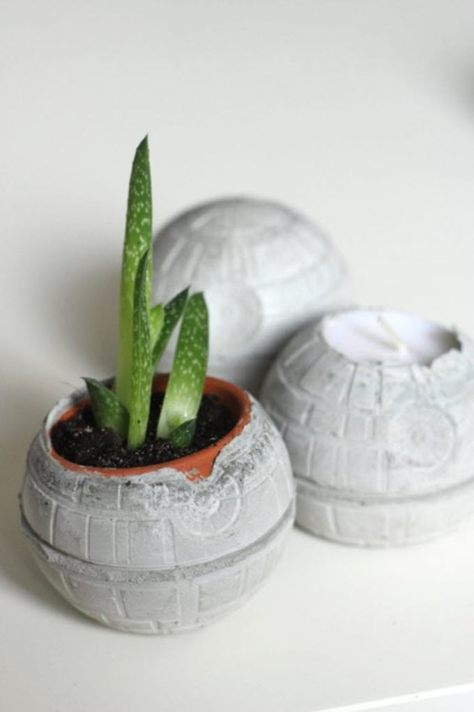 Star Wars Concrete Death Star DIY