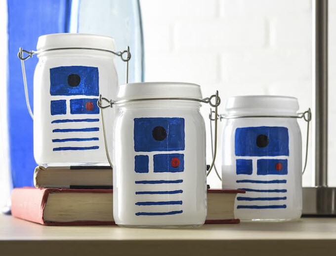 Star Wars R2D2 Luminaries DIY Craft