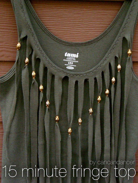 15 Minute Cut Fringe Tank Top