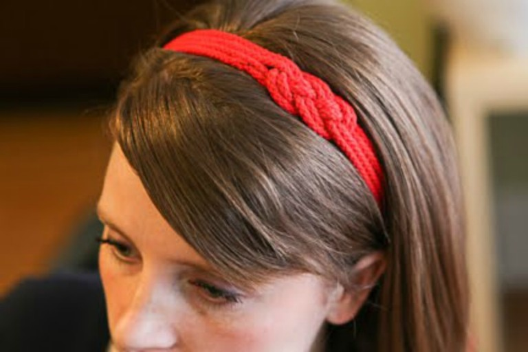 DIY Headband old Tshirt and Elastic