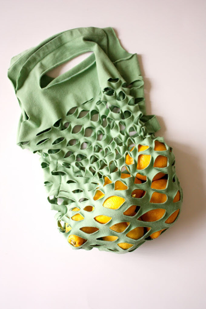 DIY Produce Bags From Old T-Shirts