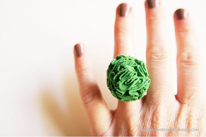 DIY T-Shirt Flower Ring