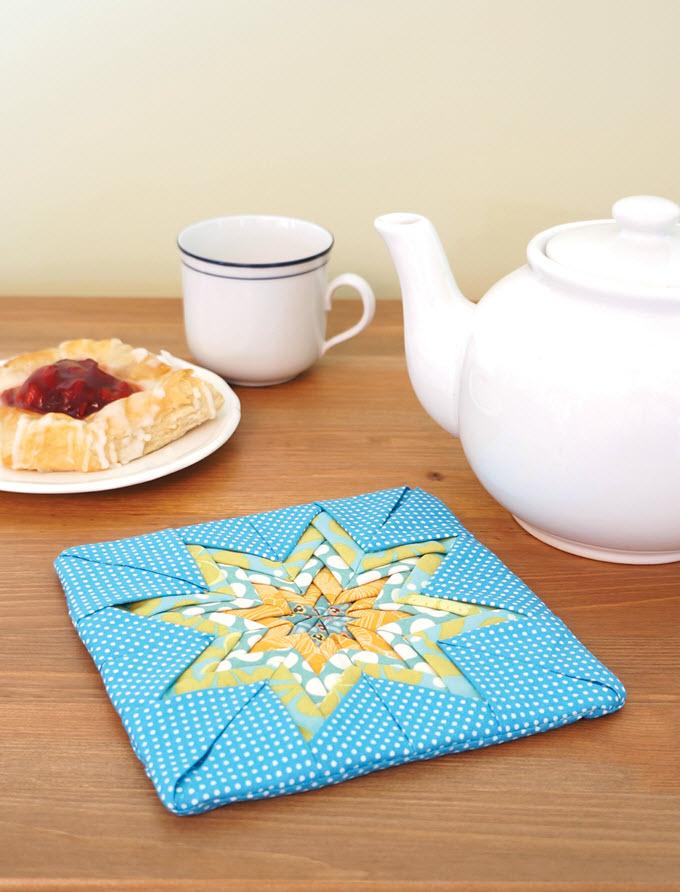 Folded Star Potholder