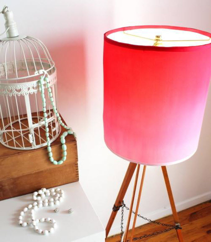 Upcycle Silk T-Shirt Into Ombre Lampshade
