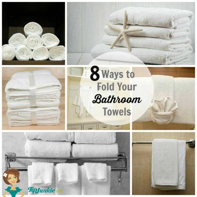 8 ways to fold your bathroom towels