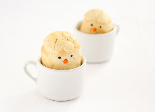 Easter Bread Chicks in a Cup