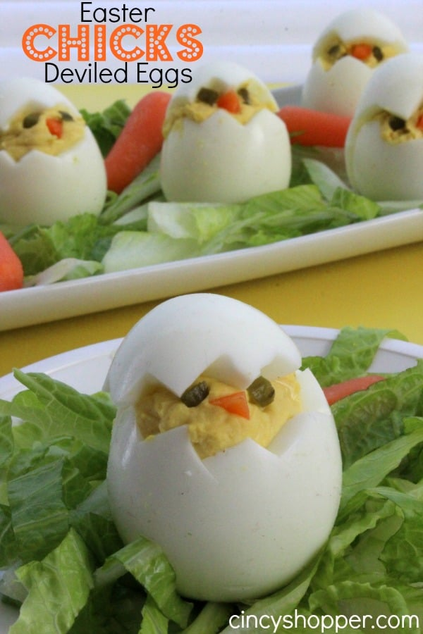 Easter Chick Deviled Eggs Recipe for Easter Brunch