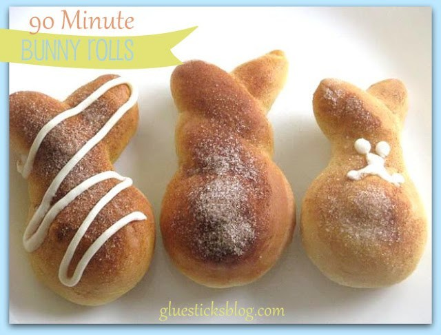 Ninety Minute Cinnamon Bunny Rolls for Easter Brunch