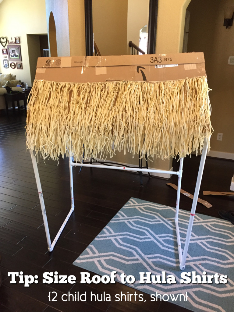 Tiki Bar DIY PVC Pipe add grass skirts