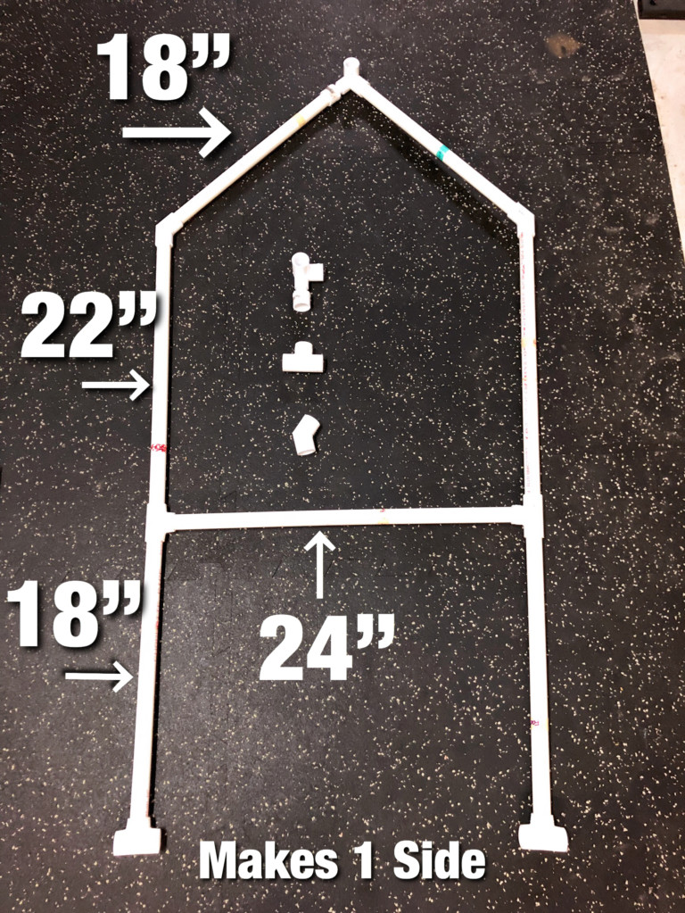 Tiki Bar PVC pipe cut sizes for 1 side