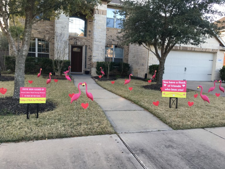 You've Been Flocked by LDS Church Group Fundraiser 1