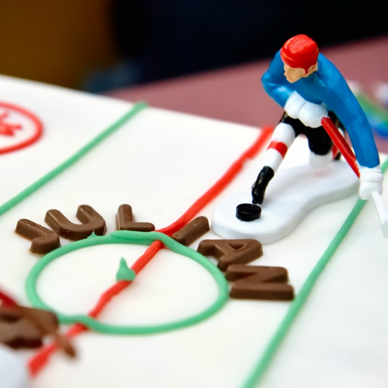 hockey birthday cake