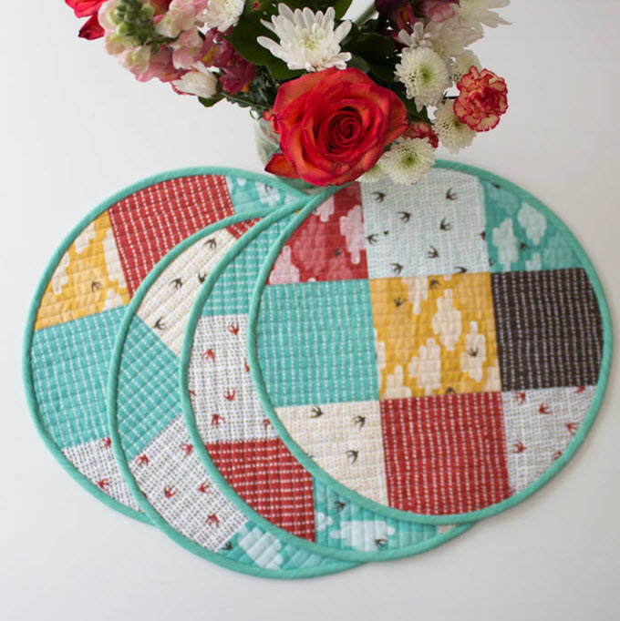 Circular Quilted Placemat