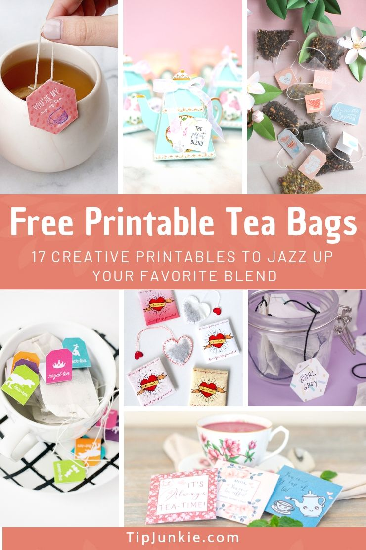 Creative Free Printable Tea Bags