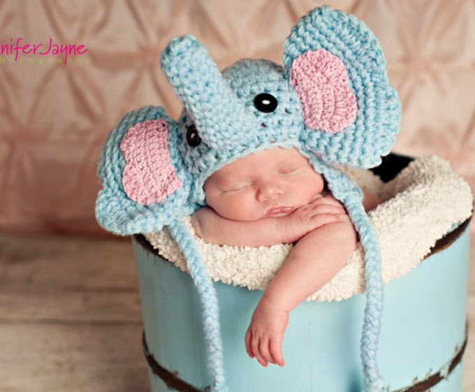 Elephant Crochet Hat Pattern