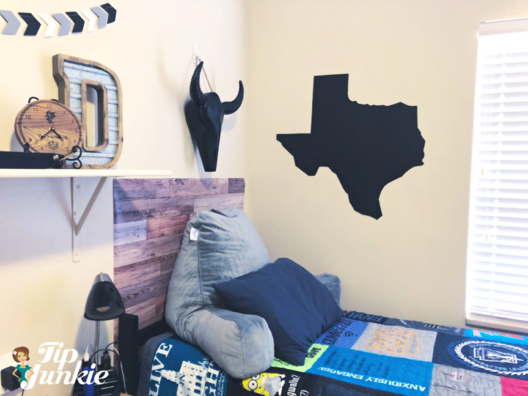 Texas State dorm wall decor