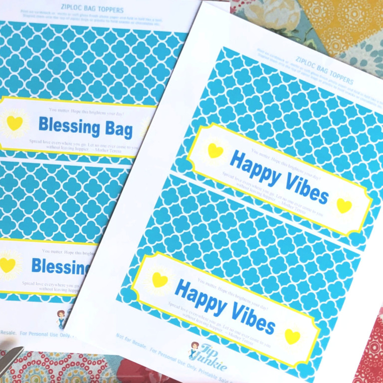 acts of kindness cards printed out on cardstock