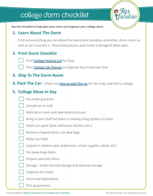 College Dorm Checklist for Guys {Centre Square at BYU ...