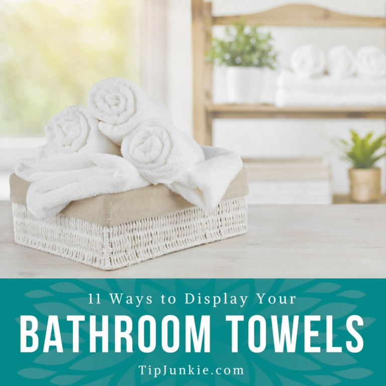 11 ways to display your bathroom towels