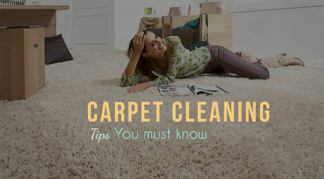 things you should know about carpet cleaning
