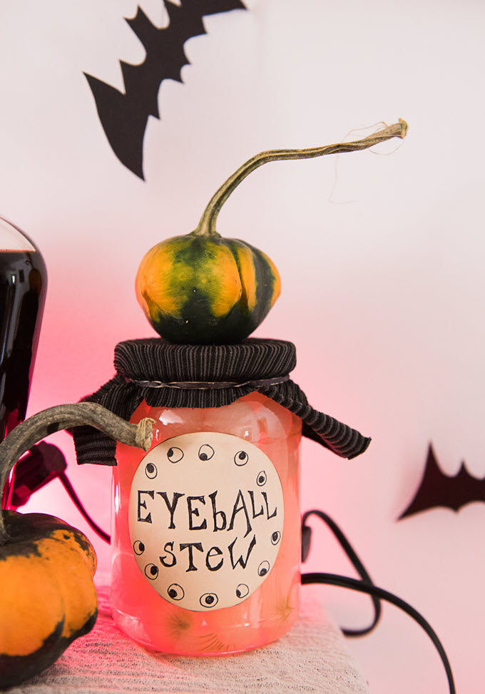 diy Halloween jar labels made with junk mail