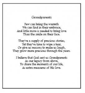 Grandparent Poem