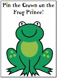 Pin the Crown on the Frog