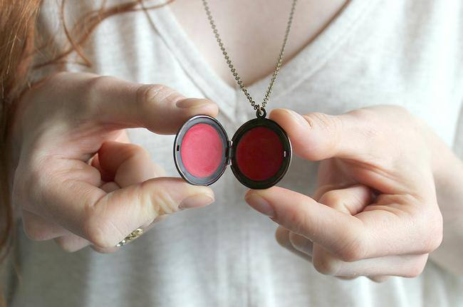DIY Tinted Lip Balm in a Locket