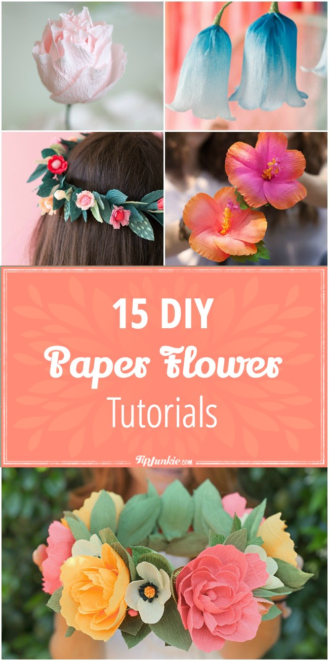 15 Diy Paper Flower Tutorials Tip Junkie