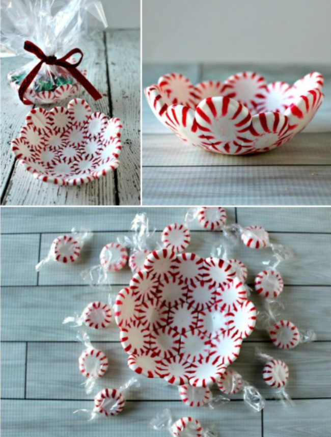 DIY Peppermint Candy Bowls