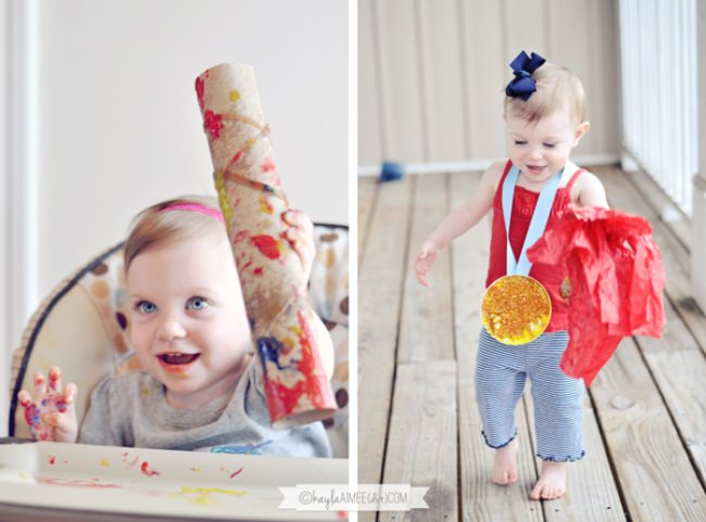 Easy Olympic Crafts for Toddlers {Torch & Medal}