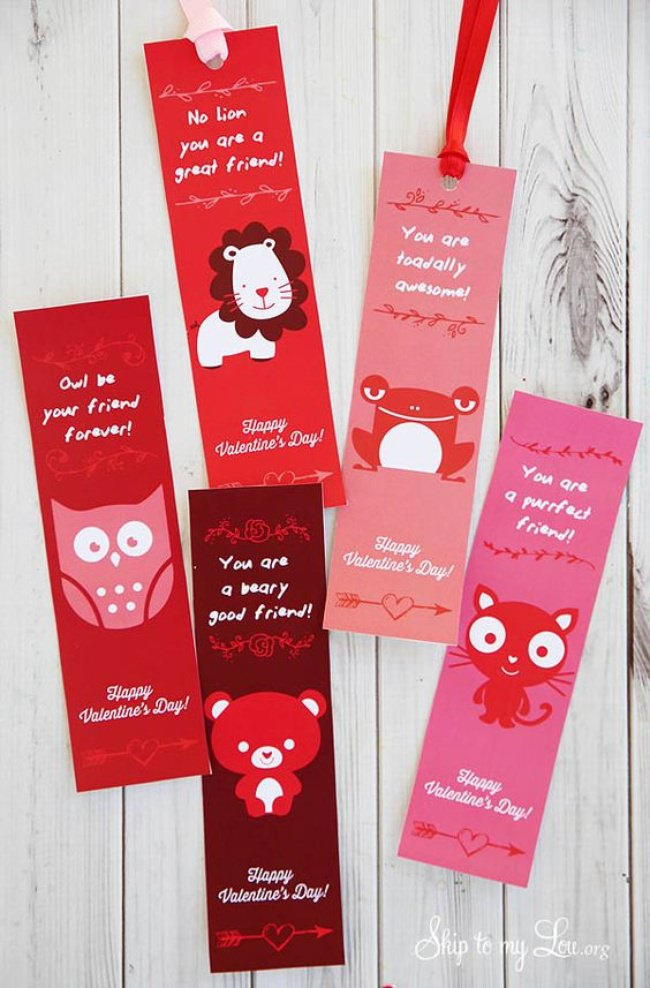 Valentine Printable Bookmark
