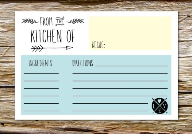 Printable Recipe Card Templates Free  Tip Junkie