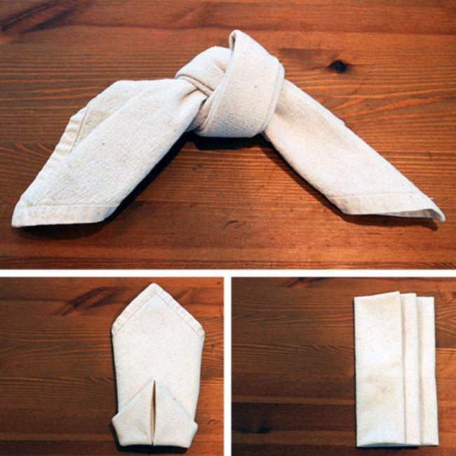 Easy Napkin Folding {3 ways}