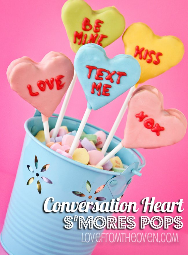 Conversation Heart S'More Pops