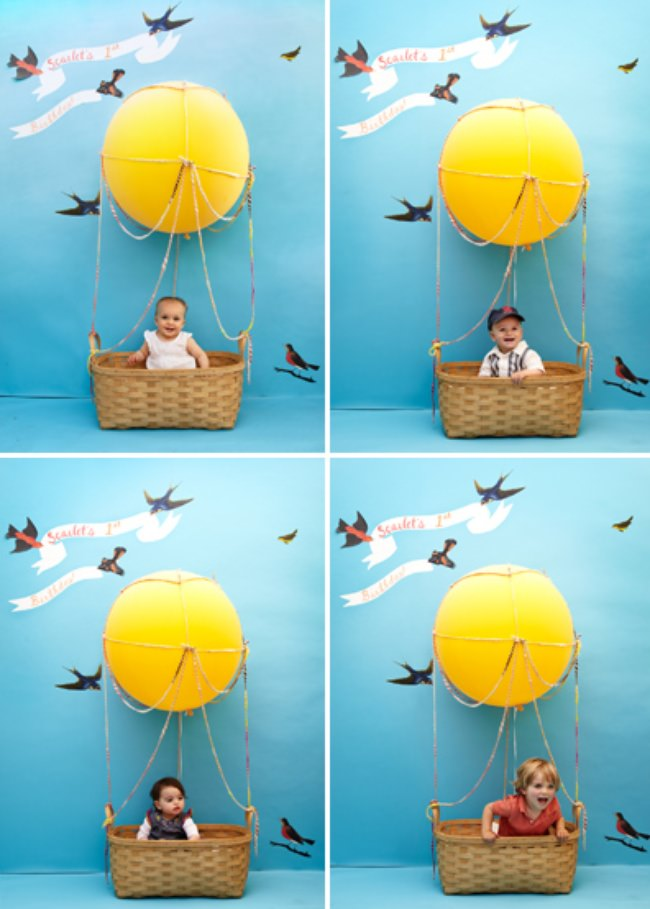 Hot Air Balloon Photo Booth {children's party}