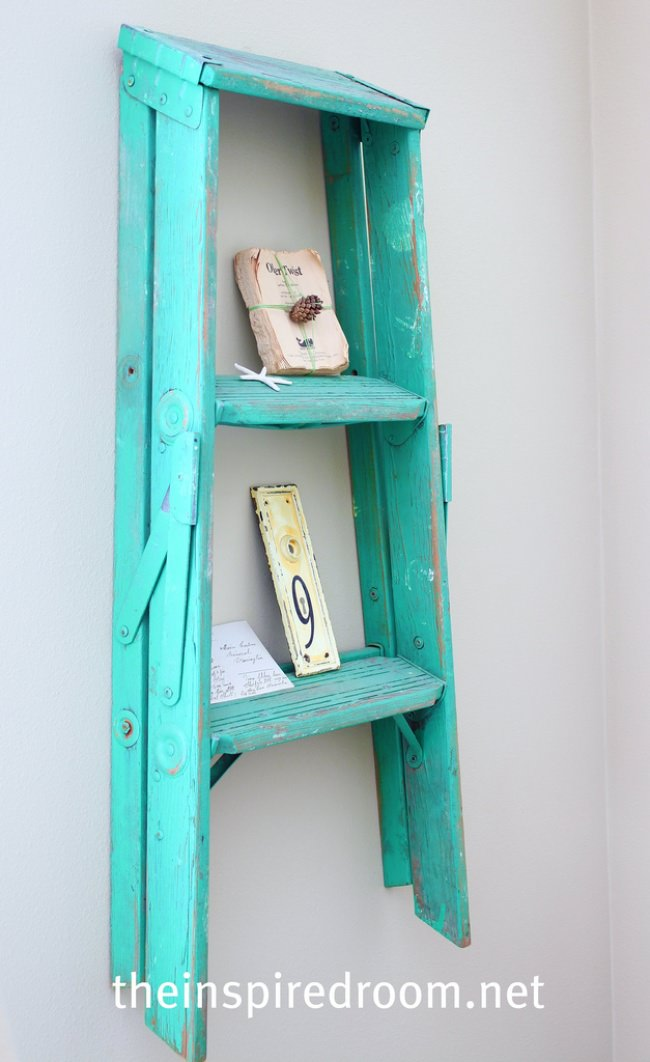 14 Ways To Upcycle Ladders Diy Tip Junkie