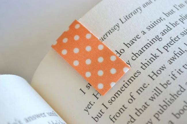 Magnetic Washi Tape Bookmarks