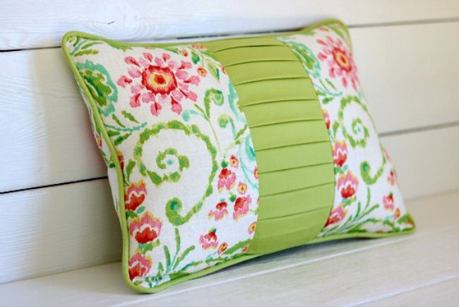 color block pillow