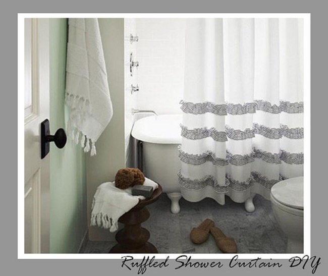 Ruffled Shower Curtain Tutorial {Bathroom Accessories}