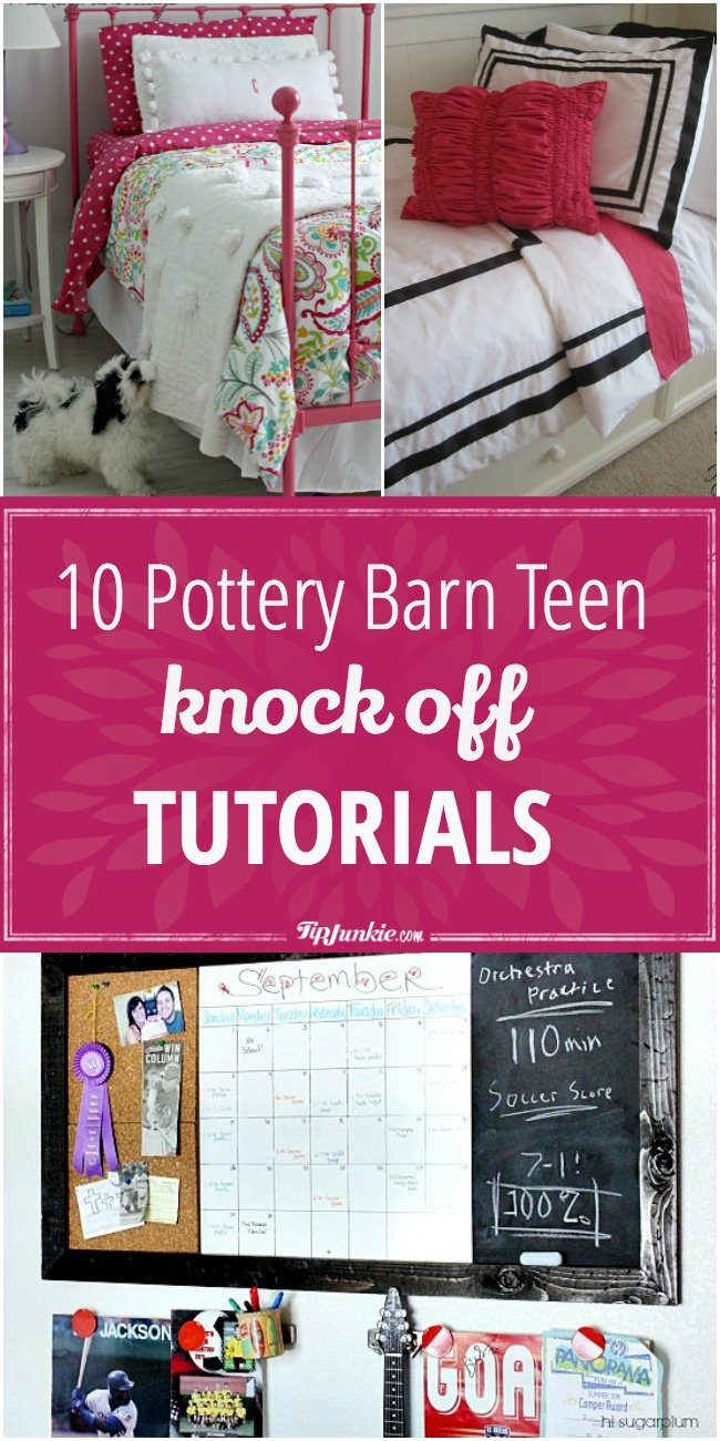 Pottery Barn Teen Knock Off Tutorials Tip Junkie - Pottery barn teenagers