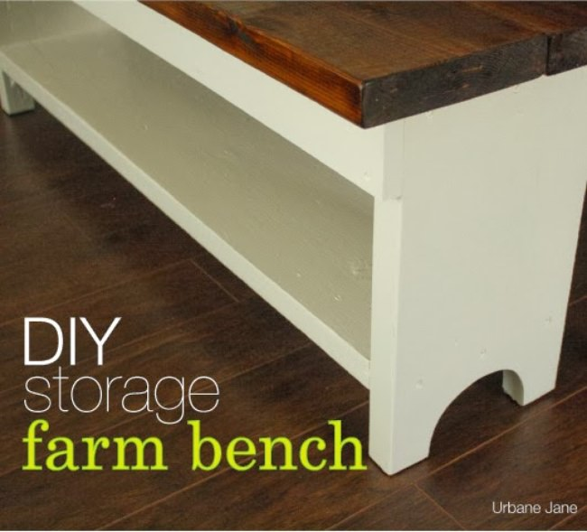DIY Storage Farm Bench