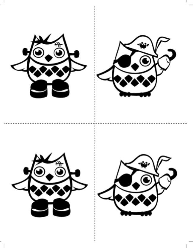 owl coloring sheets-png
