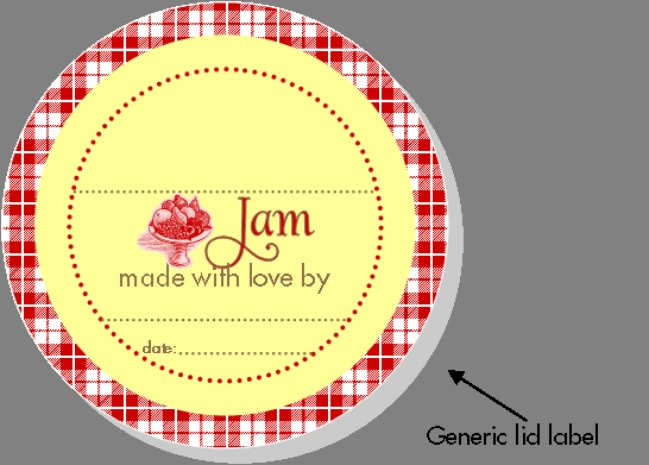 Jam Printable Label