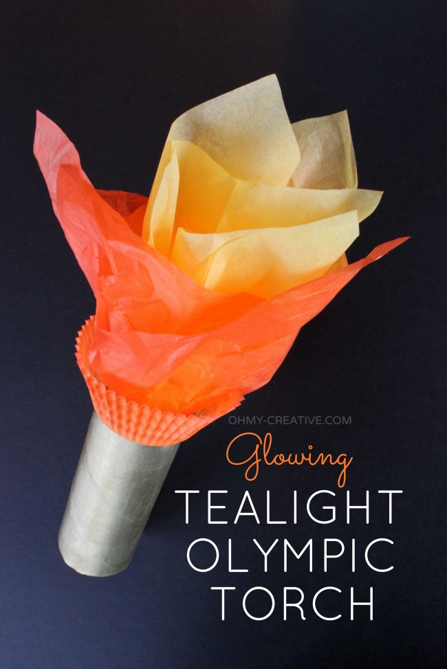 Glowing Tealight Olympic Torch