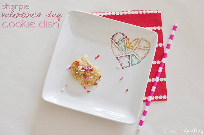 Valentine's Day Cookie Dish