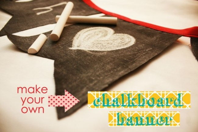 How to Make a Chalkboard Banner {party decor}