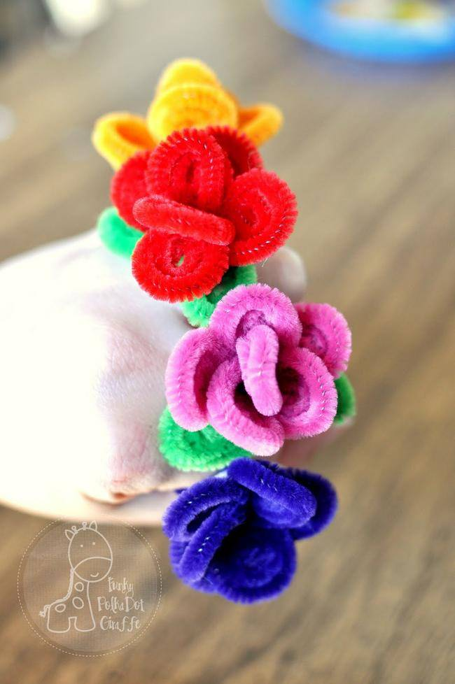Flower Pipe Cleaner Rings