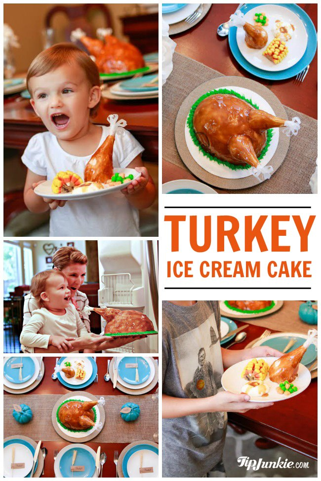 Baskin Robbins Turkey Cake Tablescape
