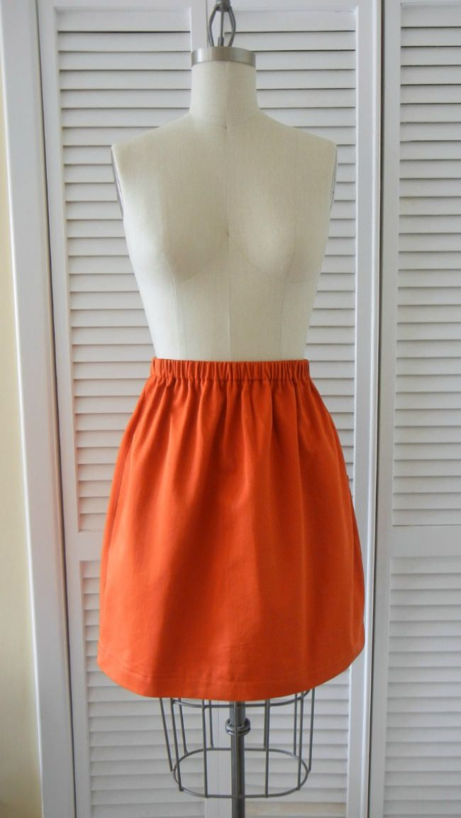 Simple Skirt for Sewing Beginners {Beginner}